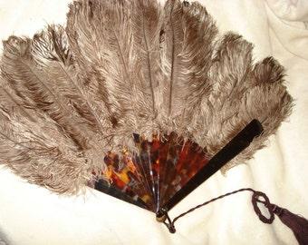 Victorian Ostrich Hand Fan