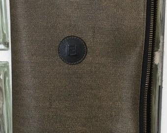 Stylish FENDI scarf/tie zippered case