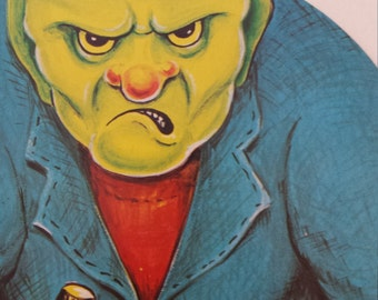 Vintage Halloween Monster Frankenstein Die Cut Party Decor