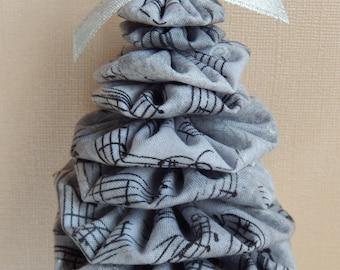 Silver and Black Sheet Music Yo Yo Ornaments