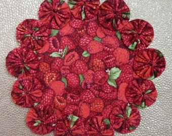 Red Raspberries All Over Doily