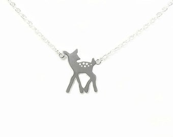 So Fawned Of You - Sterling Silver Fawn Pendant Silver Jewelry