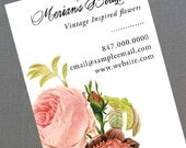 Florist Business Card,Floral,Wedding Planner,Event Planner,Flower Arranger,Rose, Set of 50