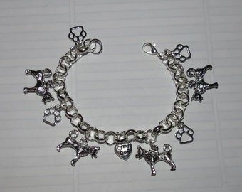 Siberian Husky  or Malamute Charm Bracelet