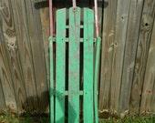 Vintage Sled Rustic Iron and Wood Antique Sled Christmas Decor Vintage Christmas Sled