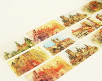 Angkor Wat - Japanese Washi Masking Tape - 11 Yards