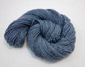 Blue Handspun DK Yarn- Sparkly,  190m, 88g, Merino and Stellina, Midwinter 2