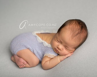 PDF Knitting Pattern - newborn short sleeved romper onesie #146