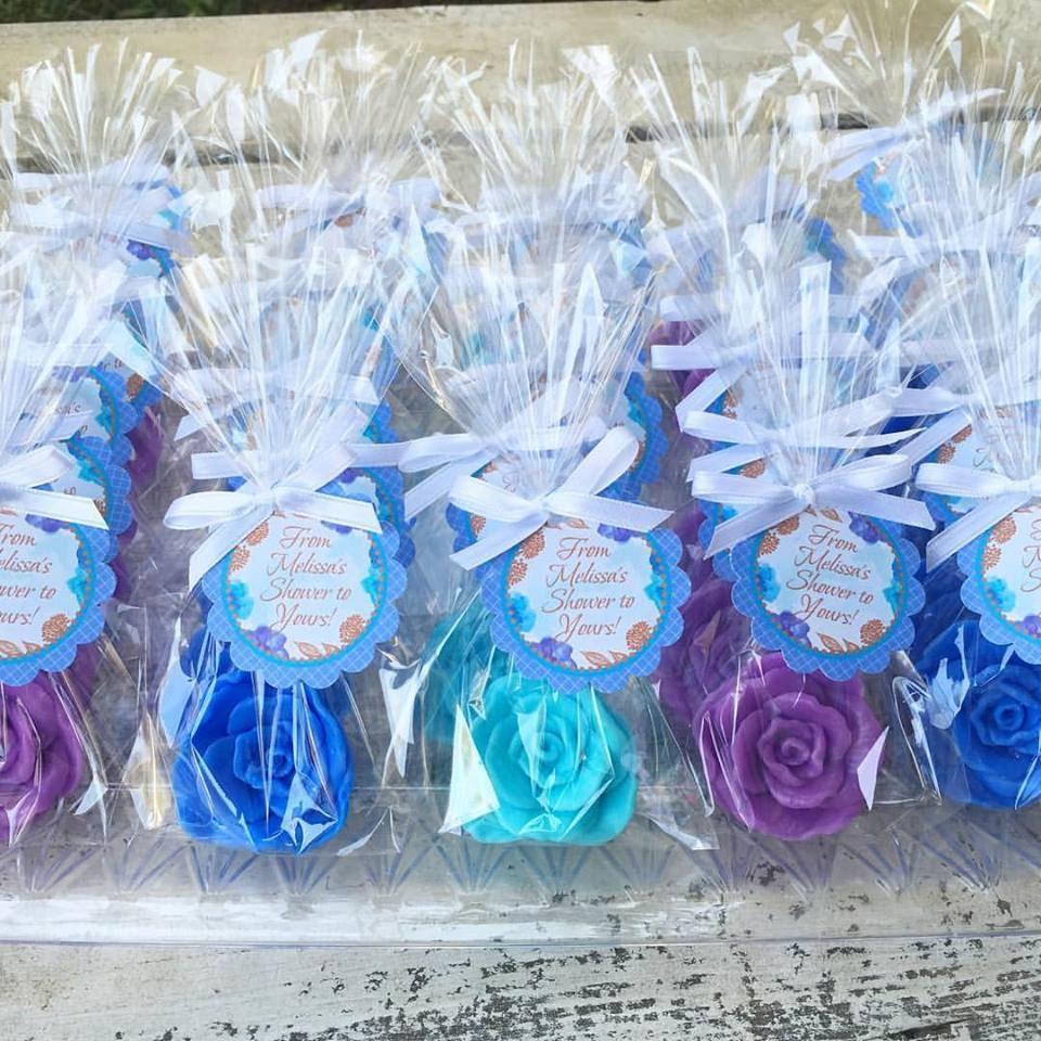 25 ROSE SOAP FAVORS Rose Bridal Shower Favors Soap Roses