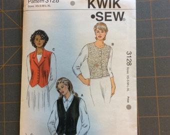 Kwik Sew 3128 Misses Vests Pattern