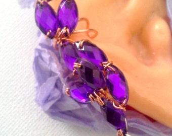 Rhinestone Unique Ear wrap Cartilage cuff Earring cuffs. Fashion cuffs, Silver ear wrap, GIfts,boho, helix jewelry, ear cuffs,  gift for her