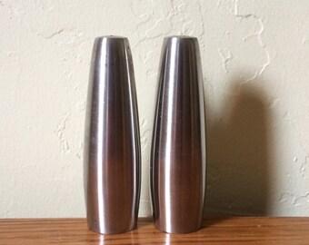 Vintage Dansk Odin Salt and Pepper Shakers Denmark Jens Quistgaard Stainless Steel Danish Modern Scandinavian Tableware