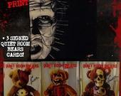 PINHEAD Hellraiser * x 10 Canvas Art print + BONUS SIGNED Quiet Room Bears Cards