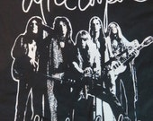 Alice Cooper Dead Stock Band T Shirt White Ink On Black Tee Vintage Print