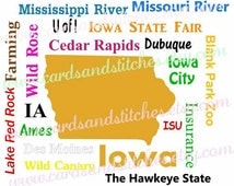 Unique Iowa Svg Related Items Etsy
