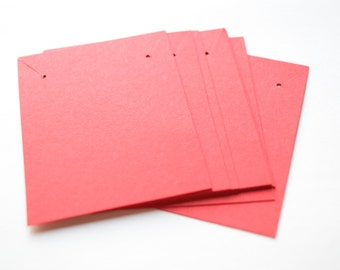 Blank red necklace jewelry cards 2.5 x 2