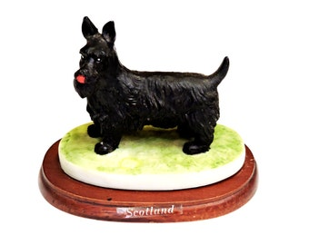 Scottie Dog Figurine, Vintage Cast Resin Scottish Terrier Dog Knick Knack or Paper Weight, Scotland, Scotty Dog Lover Gift itsyourcountry