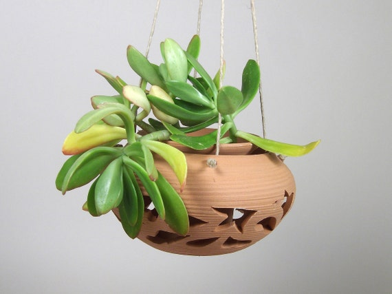 Terracotta planter pot Fretwork Double shape in one piece  to hang planter pot ITALY plant stand indoor