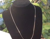 Sterling Silver, Chain, 18 Inch, 1 mm, 2.3 gram, Lobster Clasp, Snake, Made in Italy, Vintage