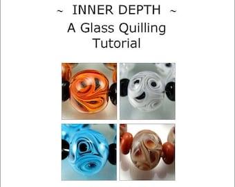 50% SALE INNER DEPTH - A Glass Quilling Tutorial by Stephanie Gough sra fhfteam leteam lampwork tutorial