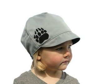 Kids Hat, Boys Bear Claw Hat, Campers Hat, Reversible Outdoor Hat, Baby, Toddler or Kids XS S M L