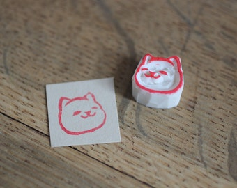 Inu shiba dog/ Hand carved rubber stamp/ Handmade rubber stamp/ Eraser stamp.
