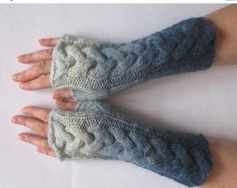 Fingerless Gloves Azure Blue wrist warmers