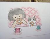 10 envelope / me my cat