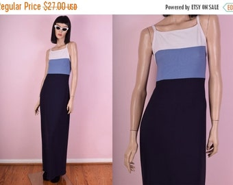 SUMMER SALE 90s Color Block Sporty Maxi Dress