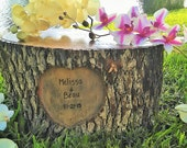 Rustic wedding Cake stand - Rustic Tree slice - Large tree stump - Stump table - Heart cake stand - Centerpiece - Wedding decor