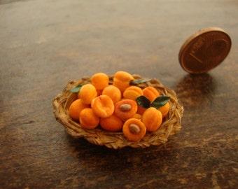 Miniature fruit basket with apricots