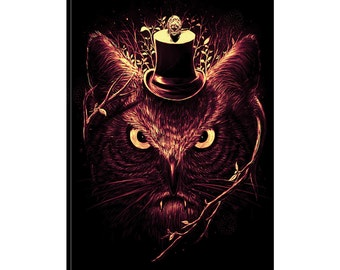 iCanvas MeOwl Gallery Wrapped Canvas Art Print by Nicebleed