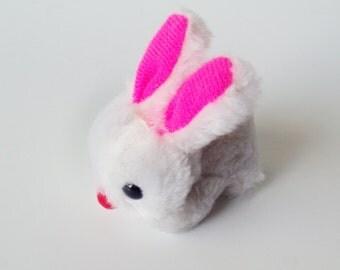 Vintage Wallace Berrie Tiny Plush Bunny, Rabbit, Agrashell Stuffing