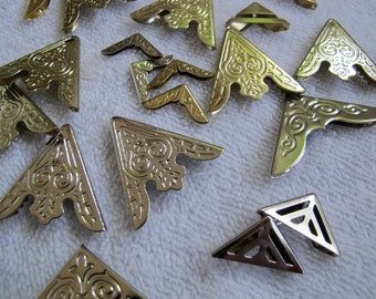 Mixed set of metal collar clips (10 pairs) / Western collar tips / Gold Silver tone collar accessories