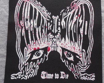 Blood Splatter Electric Wizard Sew on Patch Time to Die
