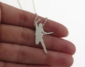 Bruce Springsteen Necklace Pendant - Boss Fan Gift - Sterling Silver Jewelry