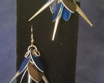 Spikes Chain and Scale Earrings