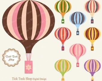 hot-air balloon high quality SET - (6 inch) Clip Art