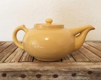 Vintage Teapot Metlox Yellow
