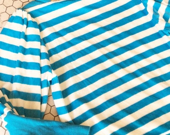 Bright Blue Velure Stripe Shirt sz S
