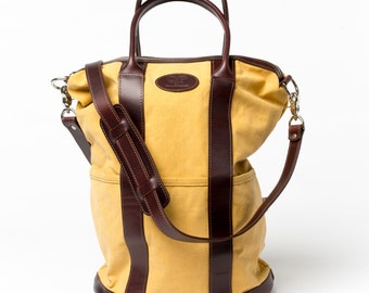 Handmade Large Yellow Helmet Bag - Diaper Bag - Tote