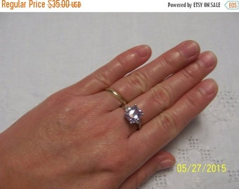 20 OFF EVERYTHING Lavender Cubic Zirconia ring. Sterling silver.