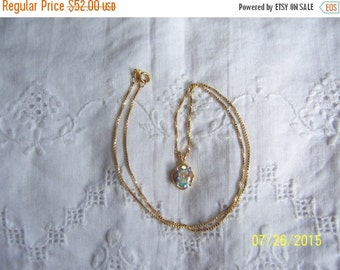 20 OFF EVERYTHING Vintage Casseopeia Topaz pendant with chain. Vermeil.