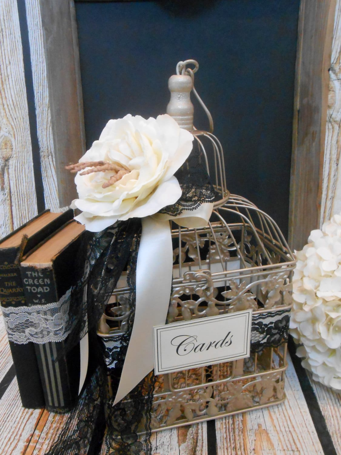 Small Wedding Birdcage Card Holder