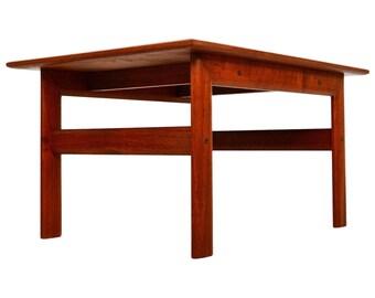 Danish Modern Teak Side Table Scandline Mid Century