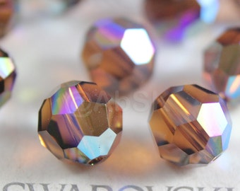 Promotion Item - 120pcs Swarovski Elements 5000 4mm Crystal Round Beads - SMOKED TOPAZ AB (While Stocks Last)