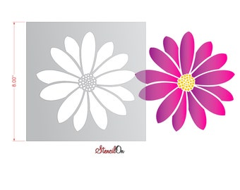 Daisy Flower Stencil for Crafts and Walls
