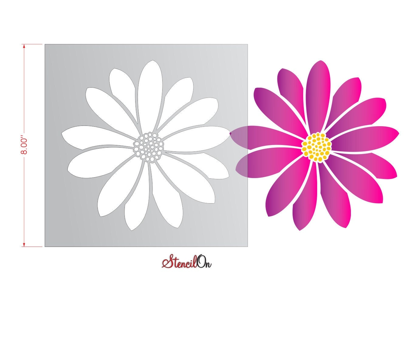 Daisy Flower Stencils To Pin On Pinterest