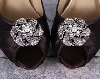 Purple Wedding Shoes, Lapis, Wedding Shoes, Bridal Heels, Lace Wedding Shoes, Wedding Shoe Bling, Crystal Wedding Shoes, Purple Wedding Idea