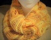 Khaki Peach & Yellow Cowl